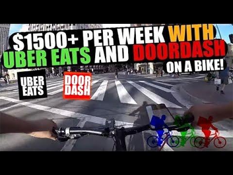 $1500 Per Week On A Bike With Uber Eats And Door Dash - DTLA