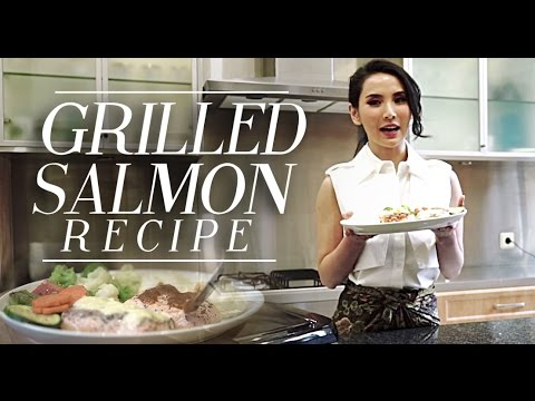 Easy & Healthy Grilled Salmon & Vegetable Recipe | FITRIA YUSUF (Bahasa Indonesia)