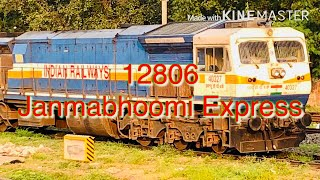 Secunderabad  Visakhapatnam 12806 Janmabhoomi Express with WDP4D at Guntur Outer || Indian Railways