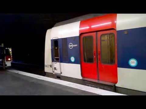 Départ d\'un MI84 de la RATP sur le RER A à Nogent-sur-Marne. - YouTube