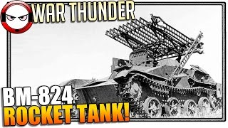War Thunder - BM-8-24 Rocket Tank review! Funny thing.