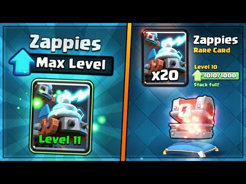 FULLY MAXED NEW ZAPPIES UPGRADE! | Clash Royale | BIG NEW UPDATE CHEST OPENING SPREE! #2