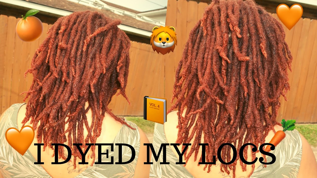 Custom Hair Color Using Box Dyes | Ginger Orange Locs🍊| Creme of Nature