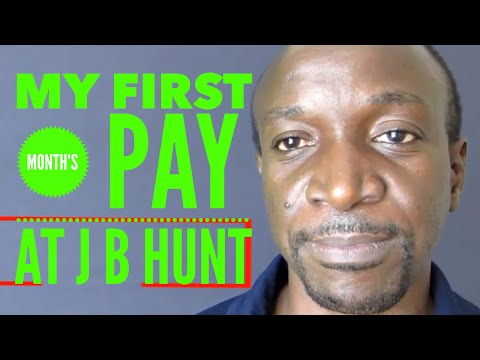 My First Month's Pay Breakdown Working At J B Hunt Intermodal
