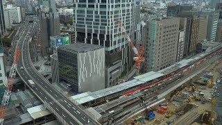 JR渋谷駅埼京線ホーム移設工事の建設状況(2020年3月7日)