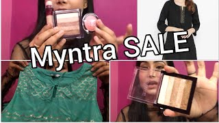 Myntra HAUL || SALE || Makeup Products, kurti and Top || cherry's World || online shopping ||