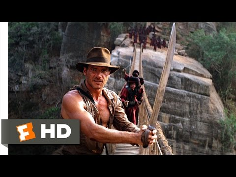 Indiana Jones and the Temple of Doom 910 Movie CLIP  The Rope Bridge 1984 HD