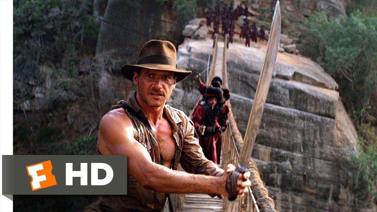 04b00dbc5 Indiana Jones and the Temple of Doom (9/10) Movie CLIP - The Rope Bridge  (1984) HD
