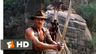 Indiana Jones and the Temple of Doom (9/10) Movie CLIP - The Rope Bridge (1984) HD