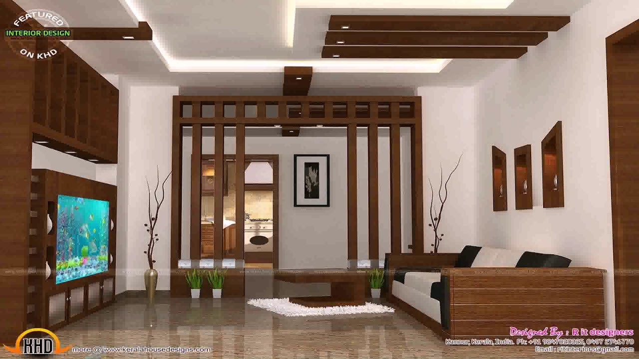 Kerala Home Interior Design Living Room - YouTube on House Interior Ideas  id=74872