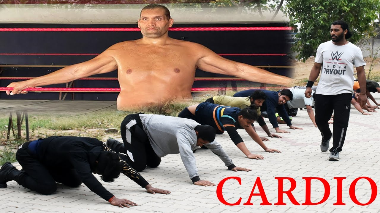 CWE | THE GREAT KHALI | CARDIO TRAINING 3RD CLASS CWE STUDENTS..