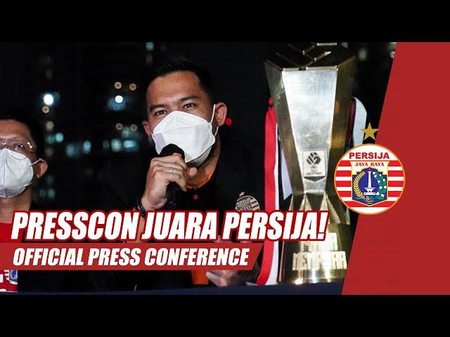Official Press Conference Persija Juara Piala Menpora 2021