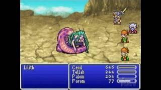Final Fantasy IV Advance Game Boy Gameplay - Gameplay