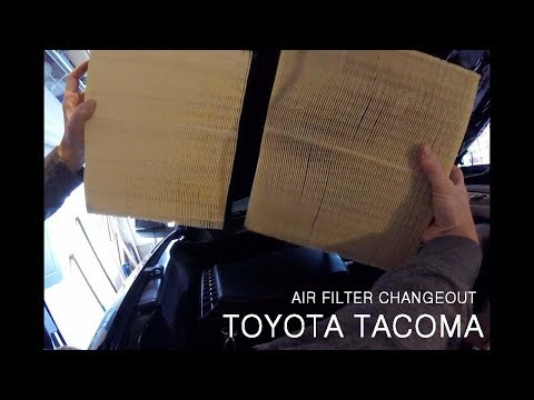 Changing the Engine Air Filter on a 2016+ Toyota Tacoma