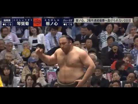 Tochinoshin vs Kotoshōgiku - Osaka 2018, Day 3