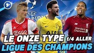 Le onze type des 1/4 de finale aller de la Ligue des Champions