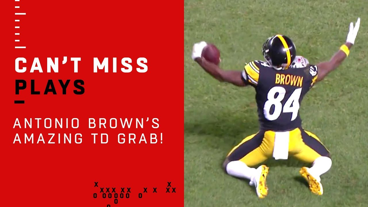 promo code 72e59 7f5be Vance McDonald Trucks Defenders & Sets Up Antonio Brown's INSANE TD Catch