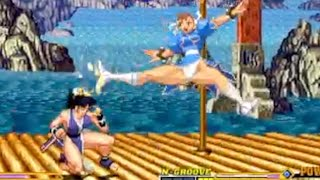 vuclip Mugen CvS vs FatalFury : Chun-Li(春麗) vs Mai Shiranui(不知火舞)