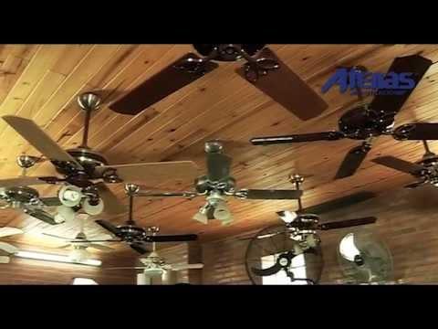 Ventiladores de techo atenas ventilacion youtube - Ventiladores de techo de madera ...