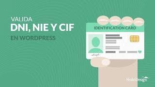 Valida DNI, NIE, NIF y CIF en formulario Wordpress