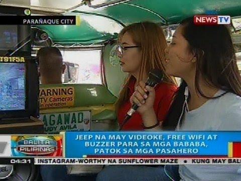 Jeep na may videoke, free wifi at buzzer para sa mga bababa, patok sa mga pasahero