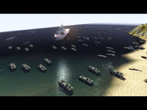 Marine & Naval Forces BEACH LANDING Under Fire | Cold War Mod | Men of War: Assault Squad 2 Gameplay