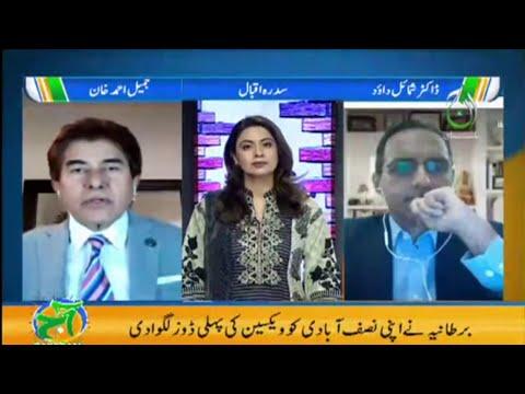 COVID-19 Vaccine doses overview   Aaj Pakistan with Sidra Iqbal   Part-1   Aaj News