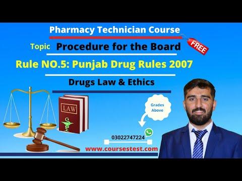punjab-drug-rule-2007-rule-num-5-procedure-for-the-board