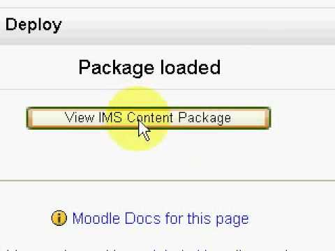 eXe tutorial: How to upload eXe SCORM/IMS to Moodle - Free Tutorial