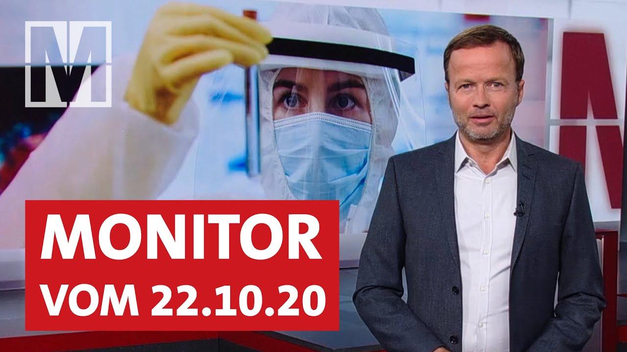 Corona-Strategie, Suche nach Impfstoff, BND-Gesetz: Monitor vom 22.10.2020 mit Georg Restle