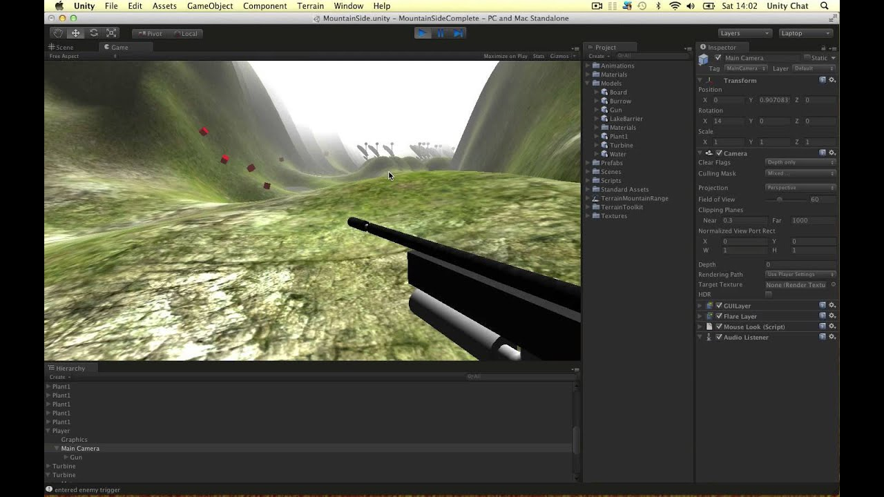 Unity Tutorial - Camera Setup for FPS + Clear Flags and Culling Mask