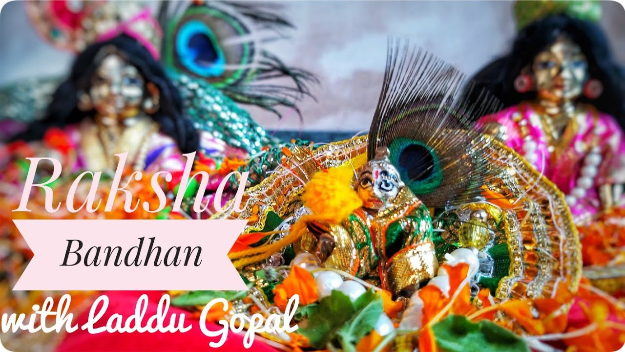 Raksha Bandhan with Laddu Gopal|ছোট্ট গোপালের হাতে পড়ালাম ছোট্ট রাখি| janmasthami puja vidhi bengali