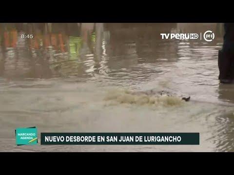 San Juan de Lurigancho: se reporta nuevo desborde de aguas servidas