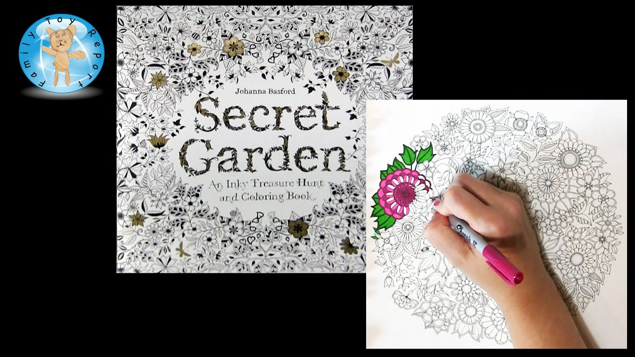 Secret Garden By Johanna Basford Adult Coloring Book Flowers Nature