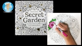 Secret Garden by Johanna Basford Adult Coloring Book Flowers Nature - Family Toy Report(In this video, we color a page from Secret Garden, An Inky Treasure Hunt and Coloring Book by Johanna Basford. This adult coloring book has 42 single page ..., 2015-08-31T01:23:23.000Z)