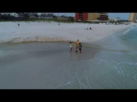 Panama City Beach Drone shots on the beach 3