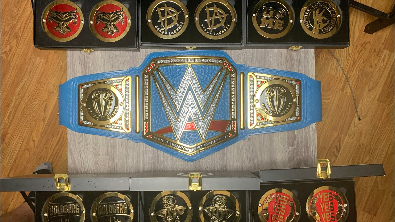 WWE SIDE PLATES COLLECTION! Placing each one on the Blue UV Title
