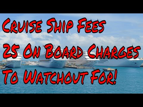 Cruise Ship Fees 25 Onboard Charges to Watchout For Tips to Save Money on a Cruise Holiday Q/A
