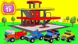 Learn Colors with lego cars Baby and Balls Cartoons for children Video for kids