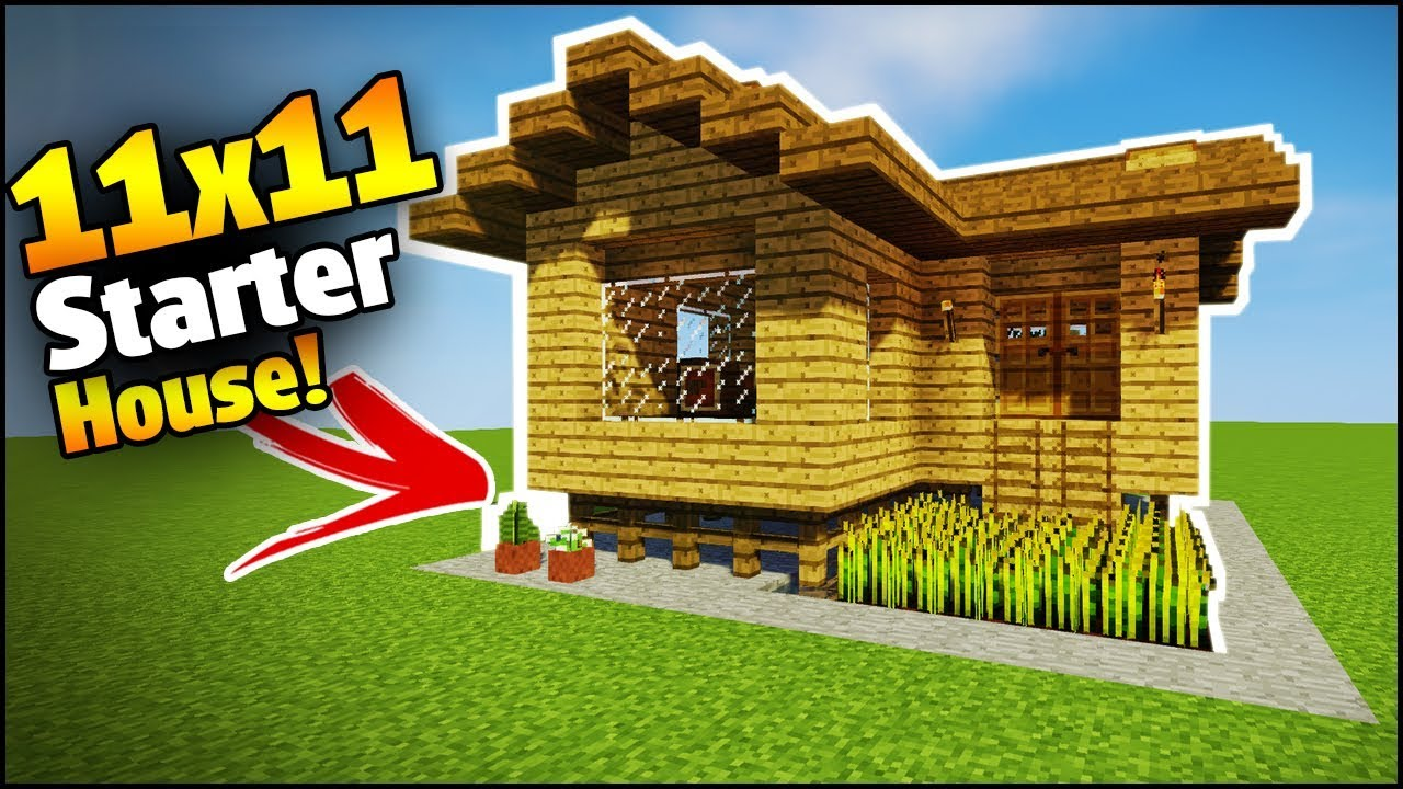 Minecraft  11x11 Starter House Tutorial - How To Build A House In Minecraft