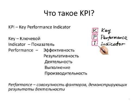 Что такое KPI