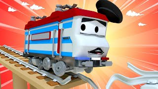 Troy der Zug -  Der Magnetzug eilt zur Rettung  - Autopolis 🚄 Lastwagen Zeichentrickfilme für Kinder