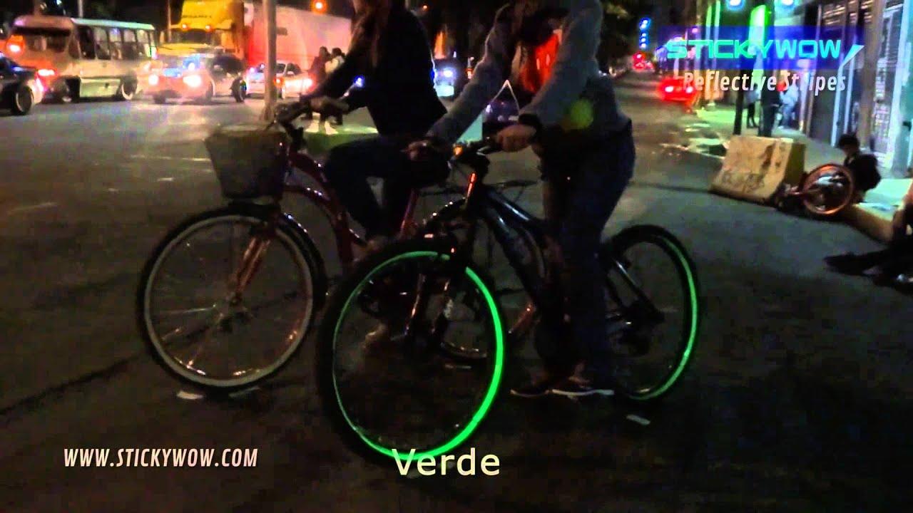 Calcoman as reflejantes para bicicleta colores youtube for Colores de marmol para mesadas