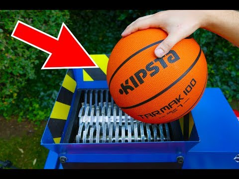 WHAT HAPPENS IF YOU DROP BASKETBALL INTO THE SHREDDING MACHINE?