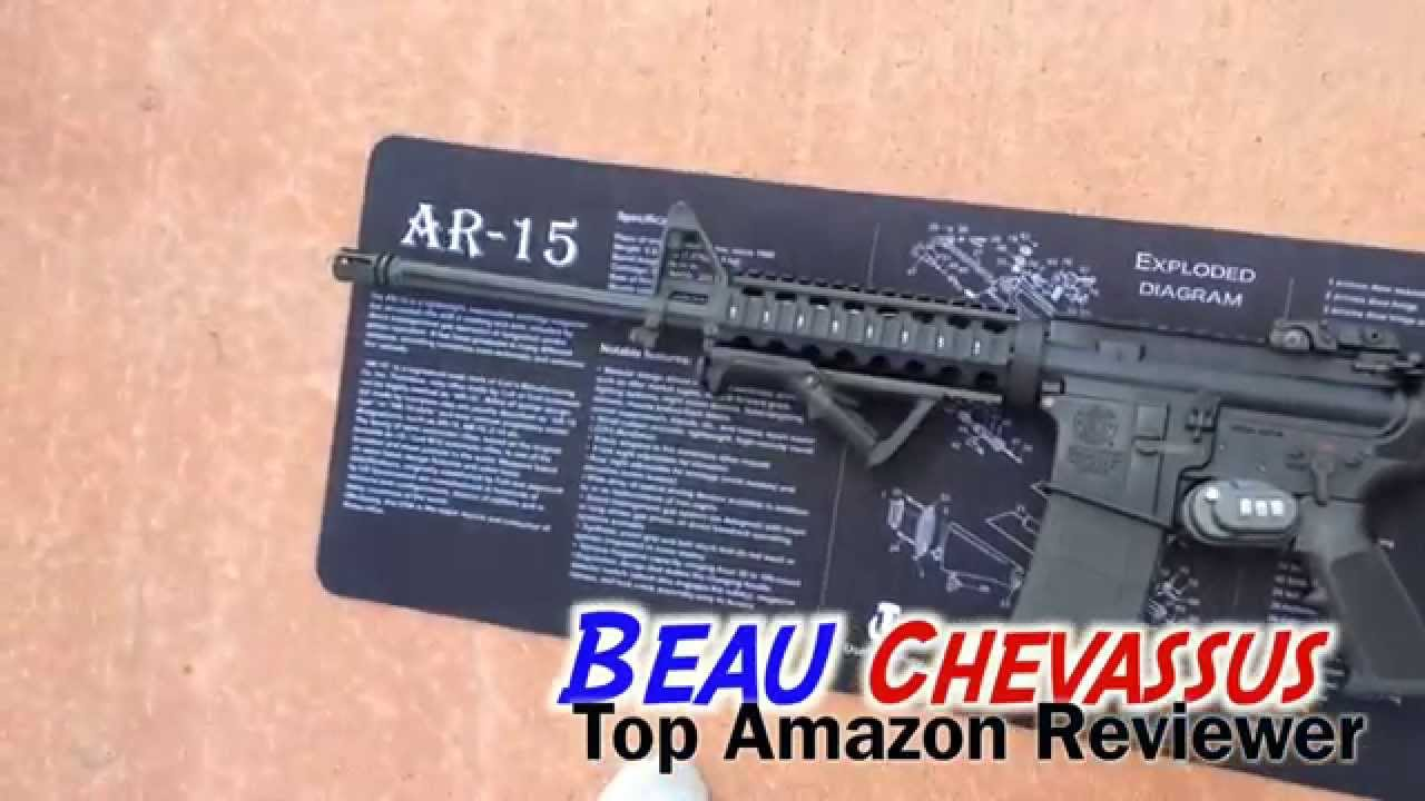 hight resolution of gun cleaning mat ar 15 printing amazon