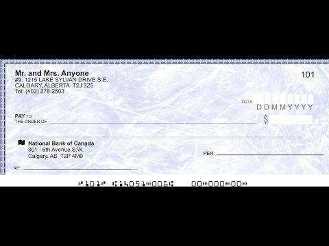 Канада 248: Как правильно заполнять банковский чек