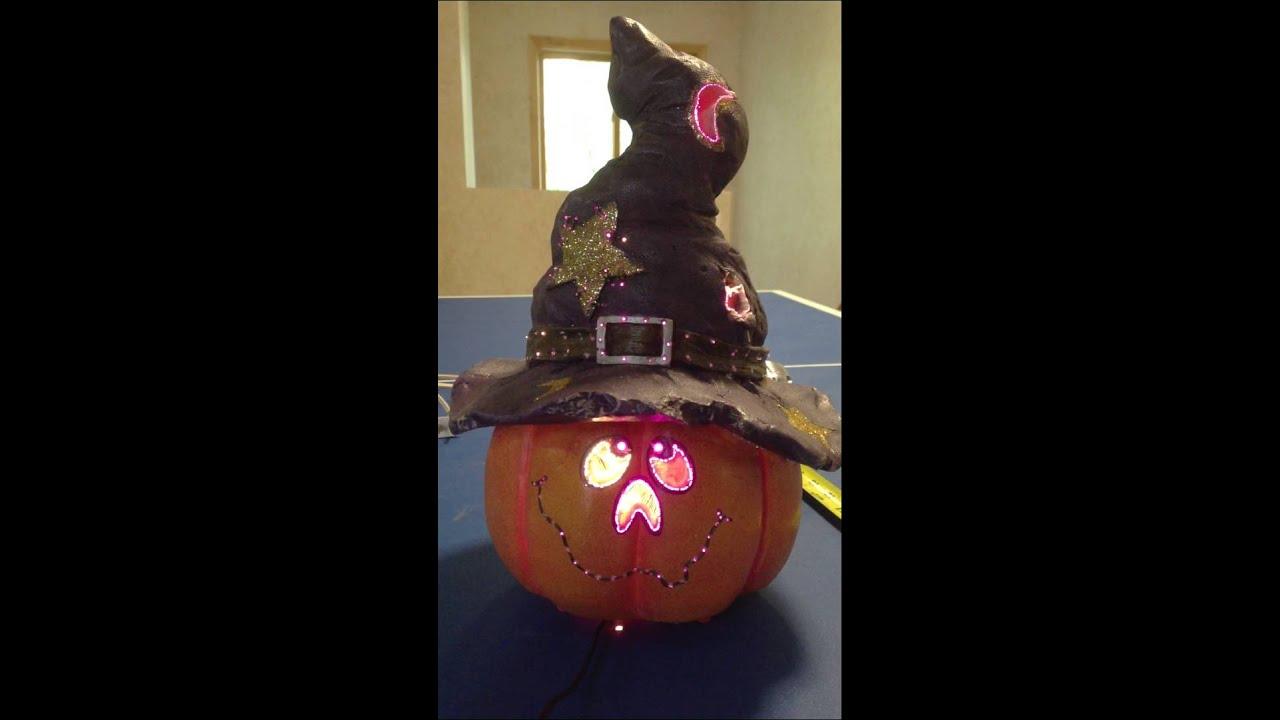 Fiber Optic Pumpkin Head Halloween Indoor Decoration Home