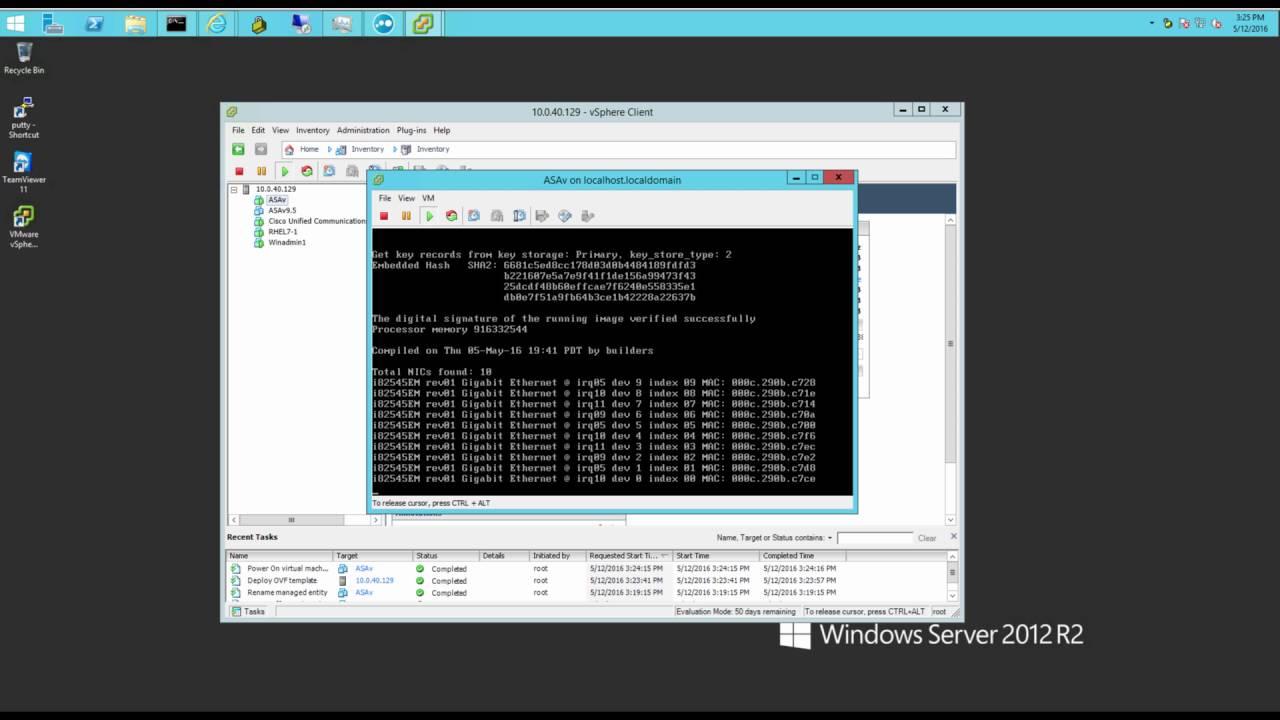 Cisco ASAv overview on vmware Esxi video tutorial