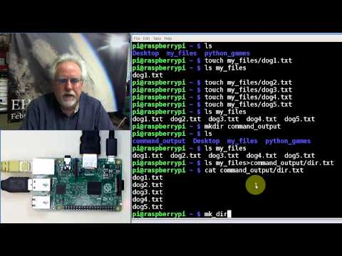 Raspberry Pi with Linux LESSON 8: Sending Linux Command Output to Files