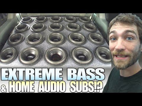 Loud CAR BASS using HOME  Subwoofers? and 20 SUNDOWN 8 inch SUBS in a HUGE Ported Box Install